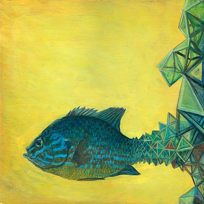 Surrealistic Painting - Pumpkin-seed Sunfish by Vincent Fink