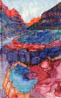 Grand Canyon Drawing - Pumpkin Springs by Scott Barnes