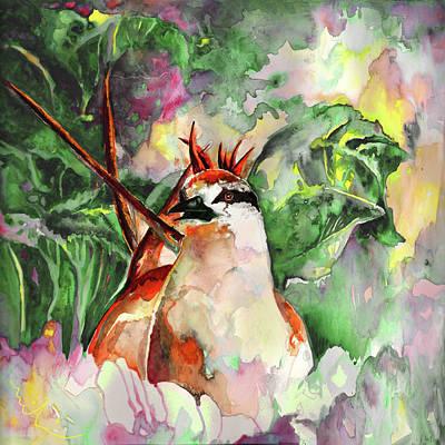 Fantasy Tree Art Painting - Punk Bird by Miki De Goodaboom