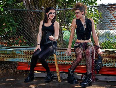 Punk Women Print by Jim Boardman