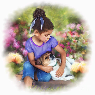 Puppy Mixed Media - Puppy Love by Dawn Serkin