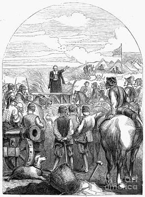 Sermon Photograph - Puritan Camp, C1644 by Granger