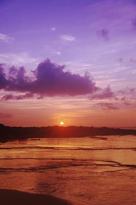 Purple And Orange Sunset Print by Vince Cavataio - Printscapes