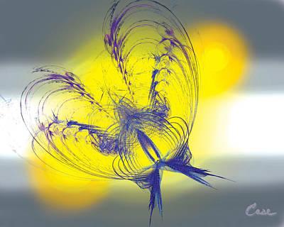 Purple Anita Butterfly 1 07 02 2012 Print by Feile Case