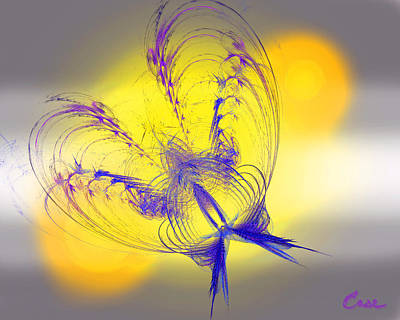 Purple Anita Butterfly 2 07 02 2012 Print by Feile Case