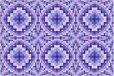 Op Art Digital Art - Purple Bumps by Chris Long