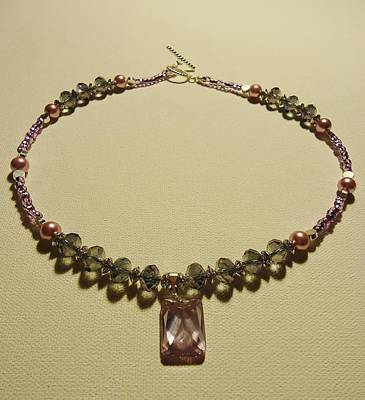 Necklace Photograph - Purple Crystal Sweetheart  by Jenna Green