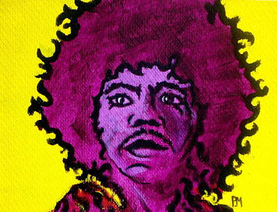 Peter Max Painting - Purple Haze Day by Pete Maier