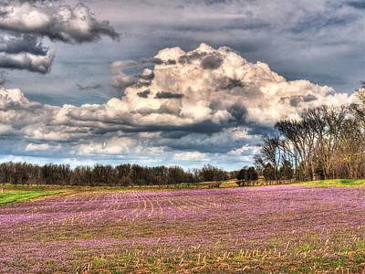 Purple Meadows Majesty Print by William Fields