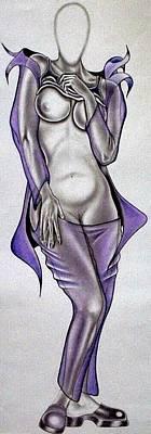 Tattoo Stencils Drawing - Purple Passion by Rick Hill