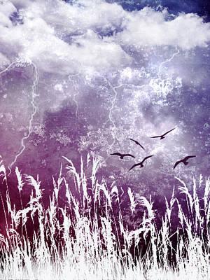 Purple Skies Print by Ellen Heaverlo
