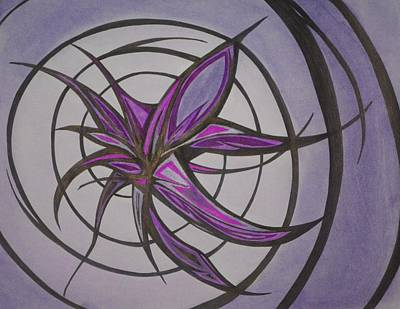 Abstract Drawing - Purplosion by Tara Francoise