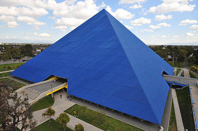 Csu Photograph - Pyramid I - Calfornia State University Long Beach by Michael  Kitahara