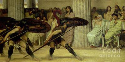 1869 Painting - Pyrrhic Dance by Sir Lawrence Alma-Tadema