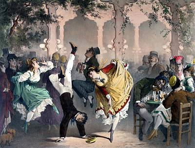 Cartwheel Painting - Quadrille At The Bal Bullier by G Barry