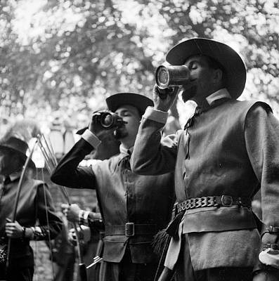 Historical Reenactments Photograph - Quaffing Mead by Alex Dellow