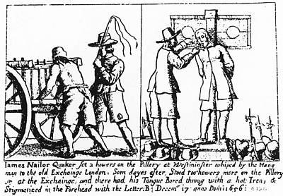 Quaker Persecution Print by Granger