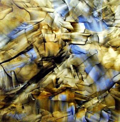 Quasi Scape Blue Print by Turgay Denizel
