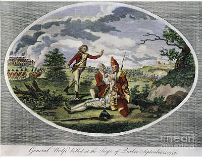 1759 Photograph - Quebec: Wolfes Death by Granger