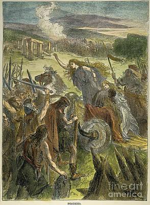 Queen Boadicea, 1st Cent Print by Granger
