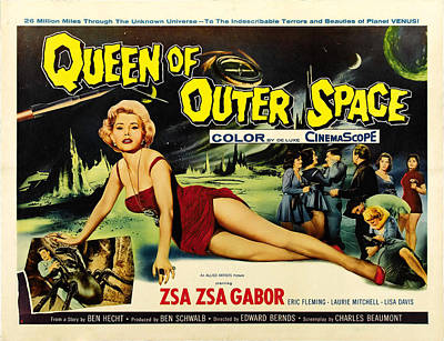 Queen Of Outer Space, Zsa Zsa Gabor Print by Everett