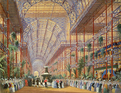 Queen Victoria Opening The 1862 Exhibition After Crystal Palace Moved To Sydenham Print by Joseph Nash