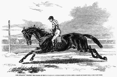 Race Horse, 1857 Print by Granger