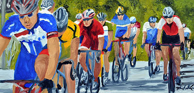 Race Warm Up Print by Michael Lee
