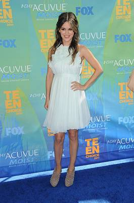 Chloe Photograph - Rachel Bilson Wearing A Chloe Dress by Everett