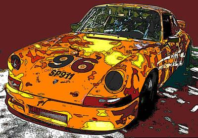 Racing Porsche Sp911 Print by Samuel Sheats