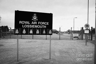 Raf Photograph - Raf Lossiemouth Air Force Base Scotland by Joe Fox