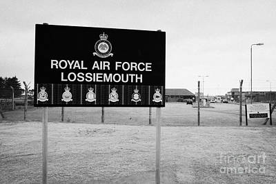 Raf Photograph - Raf Lossiemouth Air Force Base Scotland Uk by Joe Fox
