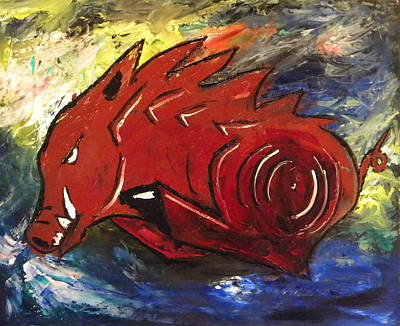 Ragin' Red Print by David McGhee