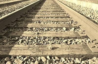 Rail Time Print by Sharon Farris