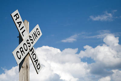 Railroad Crossing Sign Print by Stephanie McDowell