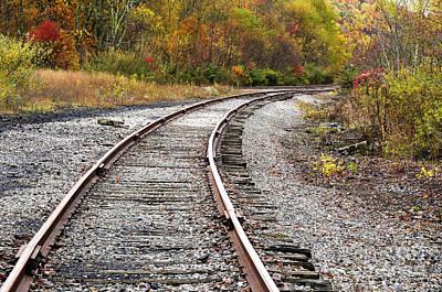 Railroad Fall Color Print by Thomas R Fletcher