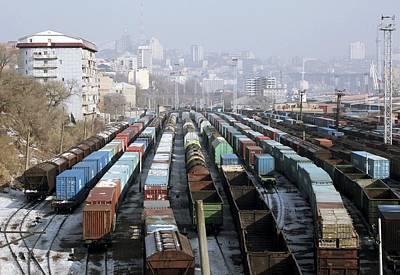 Railway Depot, Russia Print by Ria Novosti