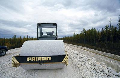 Railway Line Construction Print by Ria Novosti