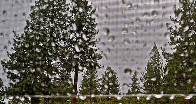 Rain On My Windowpane Print by Kirsten Giving