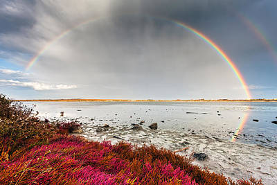 Rainbow By The Lake Print by Evgeni Dinev