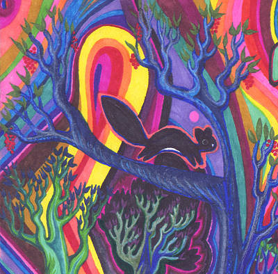 Uplifting Drawing - Rainbow Forest by James Davidson