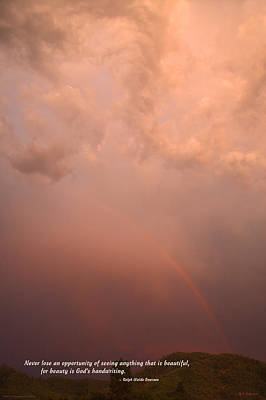 Rainbow In The Storm Print by Mick Anderson