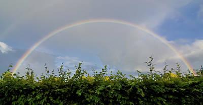 Rainbow In Warwick Print by Vicki Jauron