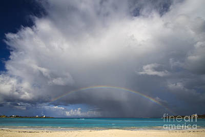 Rainbow Over Emerald Bay Print by Dennis Hedberg