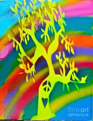 Rainbow Roots Print by Tony B Conscious