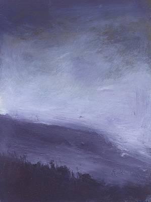 Rainstorm Over Stenbury Down Print by Alan Daysh