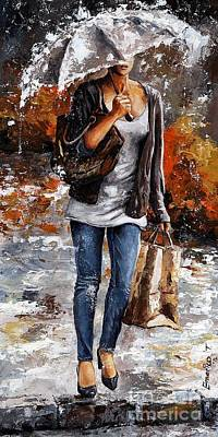 Rainy Day - Woman Of New York 06 Print by Emerico Imre Toth