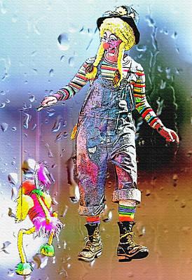 Rainy Day Clown 3 Print by Steve Ohlsen
