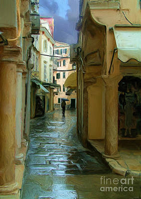 Rainy Day Photograph - Rainy Day In Corfu by Tom Griffithe