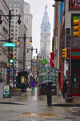 Cityhall Digital Art - Rainy Days And Sundays by Bill Cannon